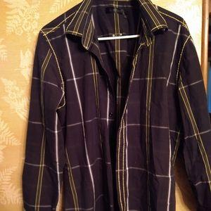 Smash men's plaid button up shirt